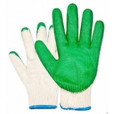 Перчатки ХБ с 1-м обливом (зеленые, красные)
