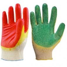 Перчатки ХБ с 2-м обливом (зеленые, красные)