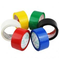 Клейкая лента цветная Зеленая, Синяя, Красная, Желтая,  Оранжевая  48мм*66м, 45 мкм