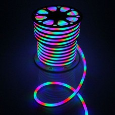 Гибкий RGB неон светодиодный мультиколор 16*26 mm, 4 жилы, 3 канала RGB мультиколор