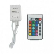 Controller RGB INFRARED IR24B IP20 12-24V 72W + ПДУ (без штекера питания)