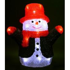 Акриловая светодиодная фигура Снеговик 27см
