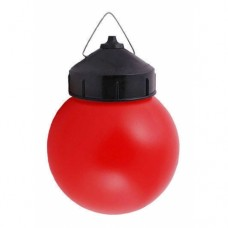 Светильник  НСП 03-60-027  60W E27, шар, пластик, красный, крюк IP44