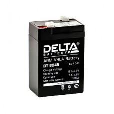 Аккумулятор  06V 4.5Ah Delta DT 6045 70x47x107