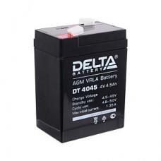 Аккумулятор  04V 4.5Ah Delta DT 4045, 70x47x107
