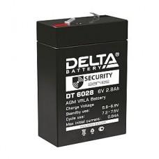 Аккумулятор  06V 2.8Ah Delta DT 6028 66x33x99