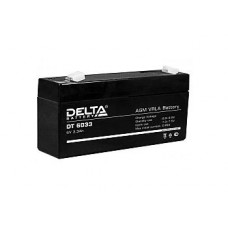 Аккумулятор  06V 3.3Ah Delta DT 6033, 134х34х61