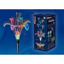 Светильник Uniel на солнечной батарее 1LED RGB h=81см сталь/пластик  Lily