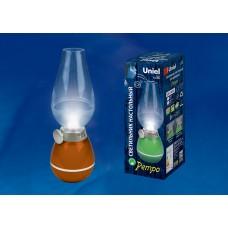 Светильник Uniel  светодиодный настольный аккумуляторный 3W(80lm) 5K (акк. 5V 400mA) диммер