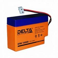 Аккумулятор   12V 0.8Ah Delta DTM 12008, 97x25x63