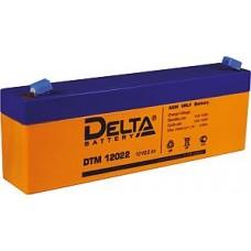 Аккумулятор  12V 2.2Ah Delta DTM 12022, 178x35x67